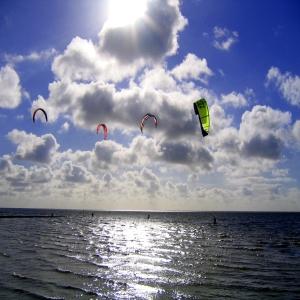 Kite Surfer an der Nordsee