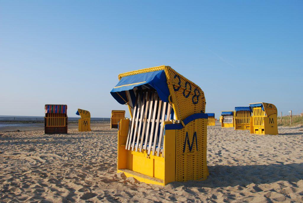 Strandkörbe im Nationalpark Wattenmeer