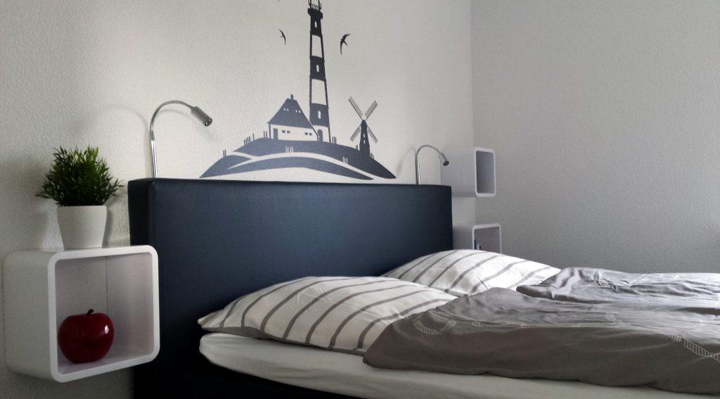 Schlafzimmer Ferienkate am Deich Nordseebad Friedrichskoog