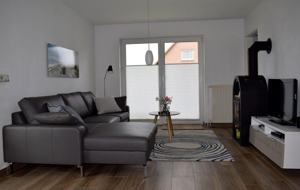 Wohnzimmer Ferienkate am Deich, Friedrichskoog 2018