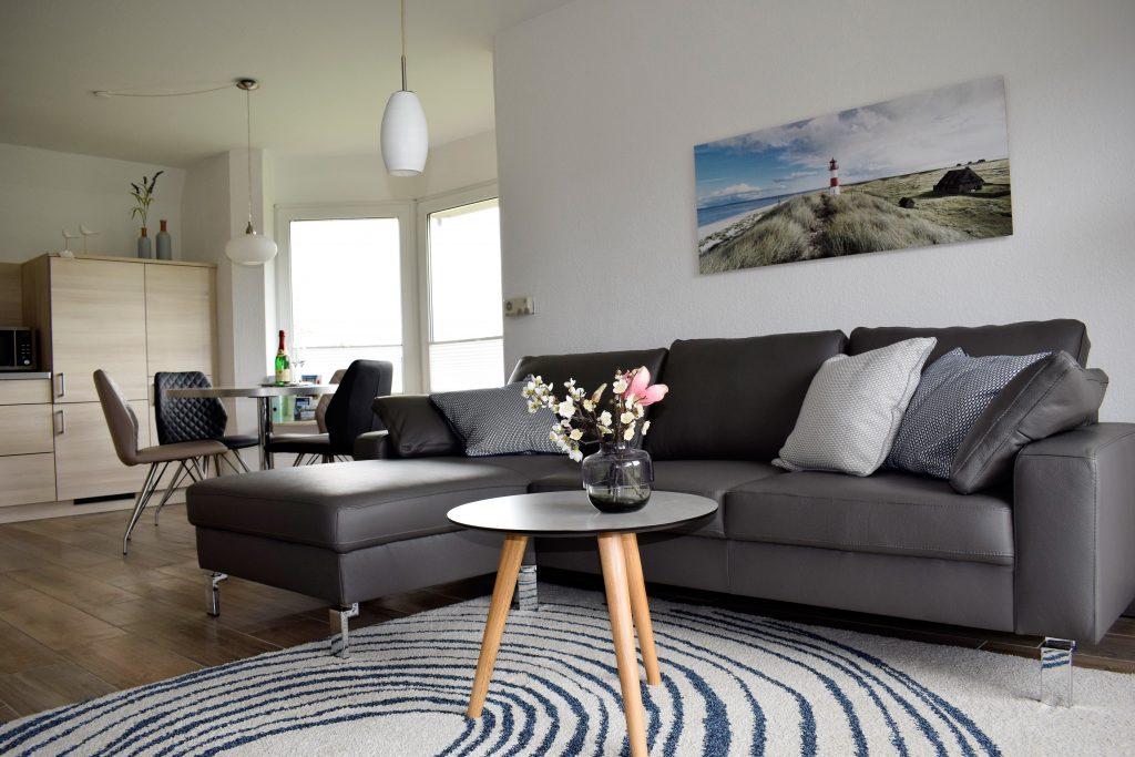 Wohnzimmer und Esszimmer, Ferienkate am Deich, Friedrichskoog